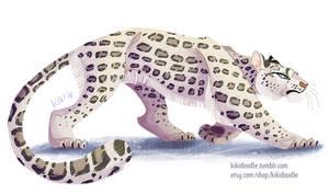 Snow Leopard by kiki-doodle