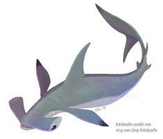 Hammerhead Shark Sticker by kiki-doodle