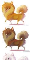 Pomeranian sticker designs