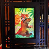 Lotus Red Panda by kiki-doodle