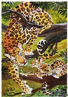 Camouflage 3 Leopards by kiki-doodle