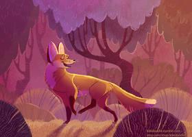 Fox in Burgundy by kiki-doodle