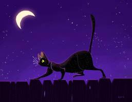 Black Cat Appreciation Day by kiki-doodle