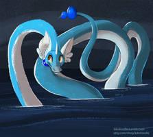 #148 Dragonair by kiki-doodle