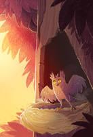 Owl Sunrise by kiki-doodle
