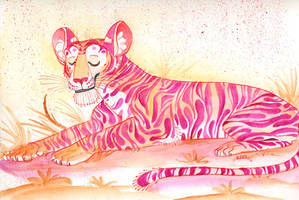 Tiger sketch by kiki-doodle