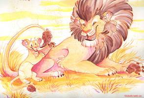 Lions by kiki-doodle