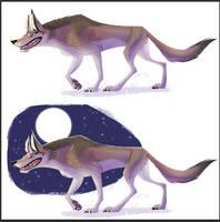 New Wolf Sticker by kiki-doodle