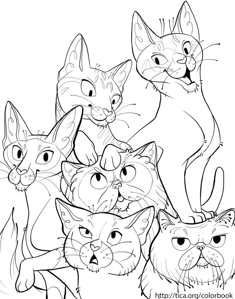 TICA Cat Coloring Book Page 6 By Kiki Doodle