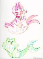 Purrmaids by kiki-doodle