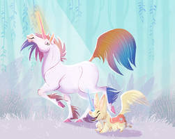 Unicorgi and Friend by kiki-doodle