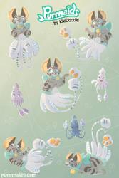 Squitten Sticker Sheet by kiki-doodle
