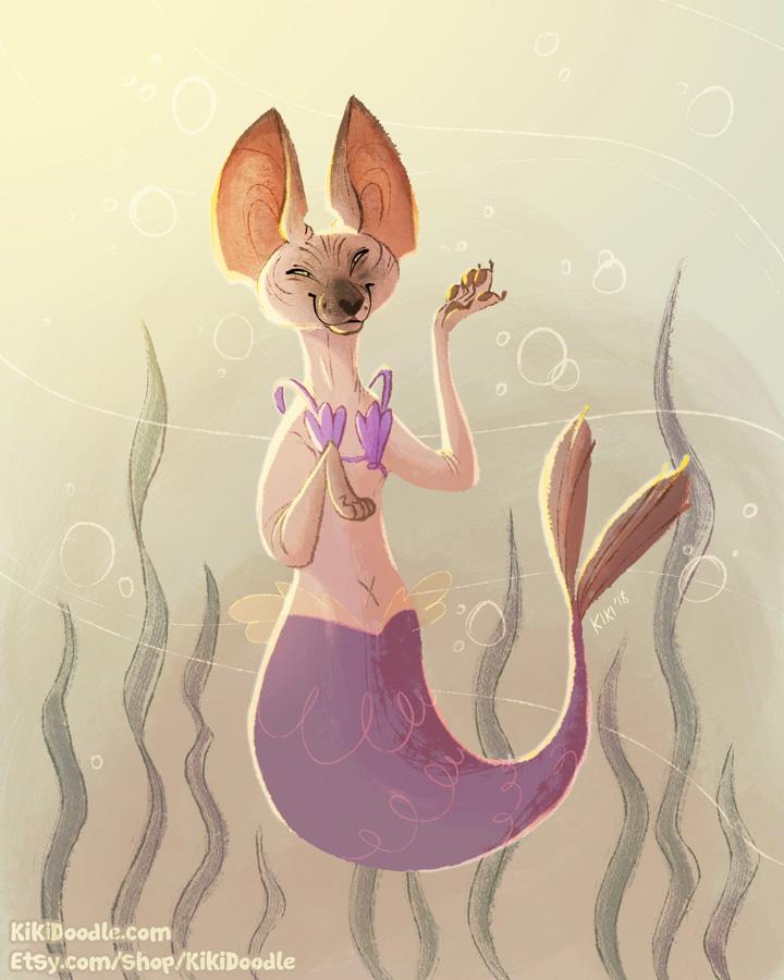 Purrmaid Pet Portrait Ryfkah by kiki-doodle