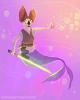 Jedi Sphynx Purrmaid Commission by kiki-doodle