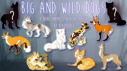 Big and Wild Dog enamel pin Kickstarter