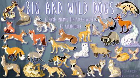 Big and Wild Dog enamel pin Kickstarter 3