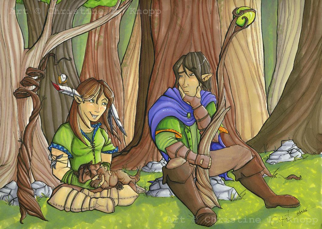 .Woodland Druids. by kiki-doodle
