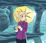 Noelle in a cave