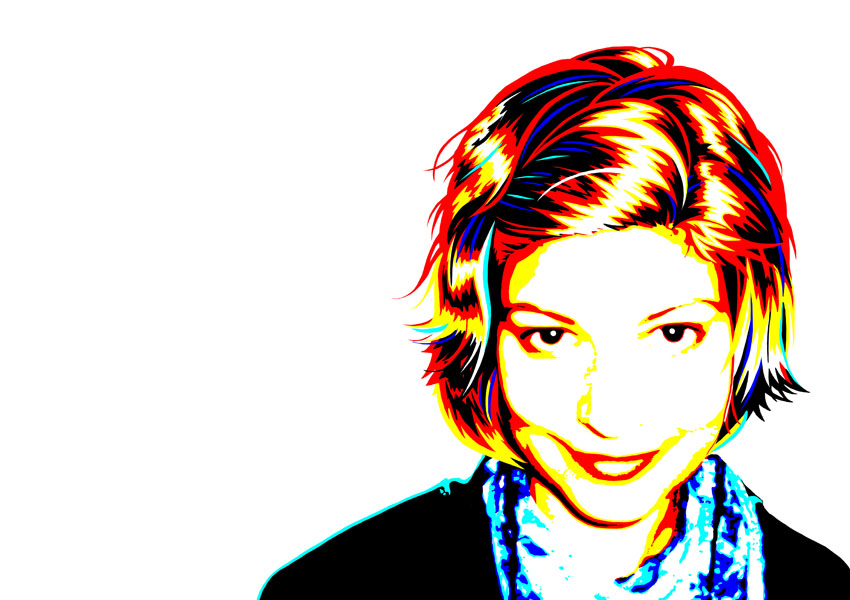 Vector self-portrait by Aeonna