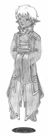 Concept sketch of Cole's robe