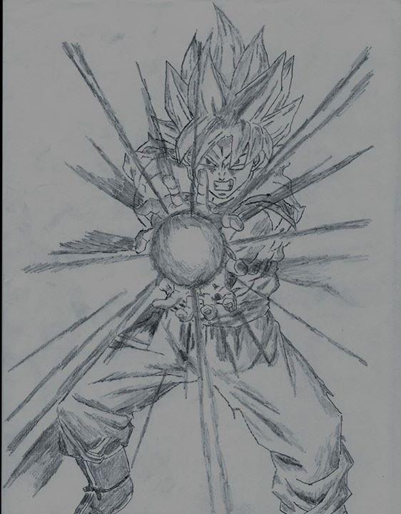 Goku- Kamehameha Wave by Blaeckdeath
