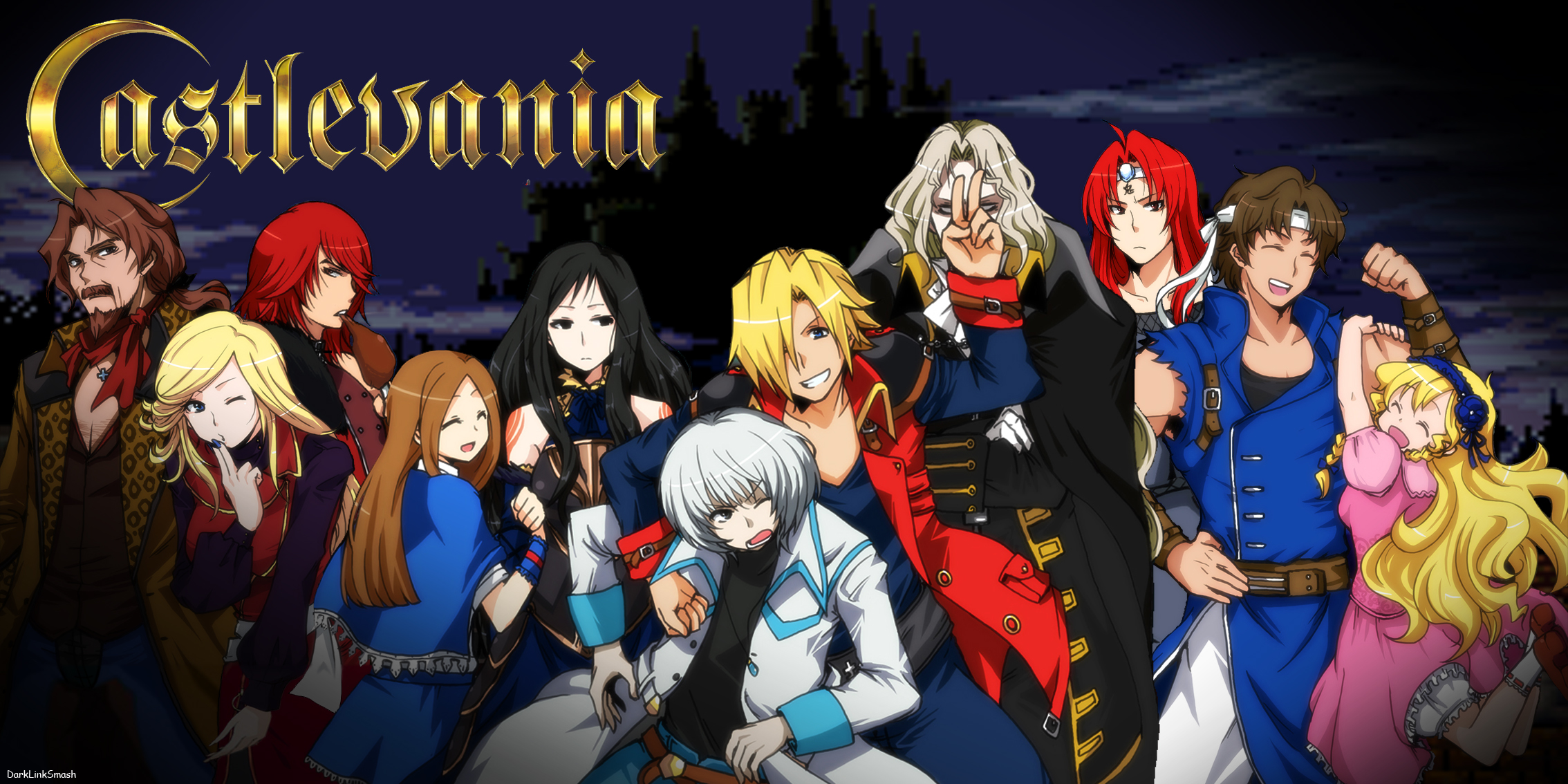 .:::Knight Footmen-Wars Tz v3.2:::. Castlevania_harmony_of_despair_by_darklinksmash-d5i6qep