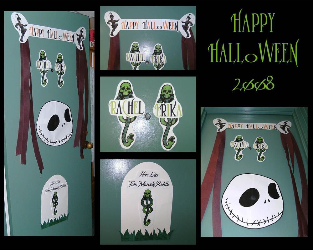 Halloween dorm door decorations - Halloween Door Decorations By Jediprincess