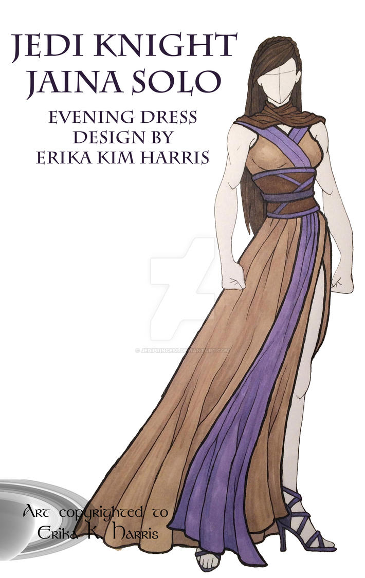 Jaina Solo Inspired Evening Wear by jediprincess