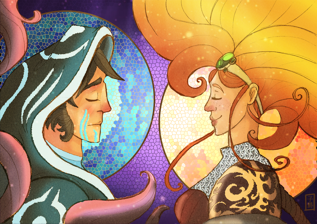 Jace and Chandra Art Nouveau by Amely14128