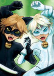 Chat Blanc and Chat Noir