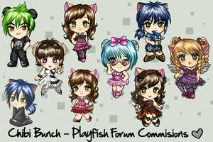 Chibi Bunch PS characters by nelli-sama