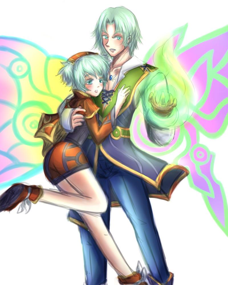 Ageha and Tateha by nelli-sama