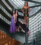WWE Divas Floating