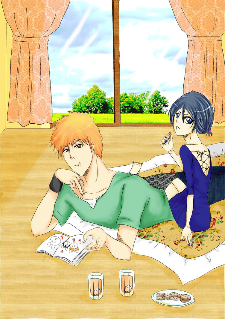 Ichigo and Rukia - Sweet afternoon.. by teodoralovesteo