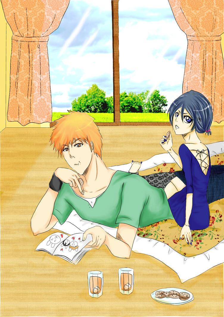 Ichigo and Rukia - Sweet afternoon.. by teodoralovesteo