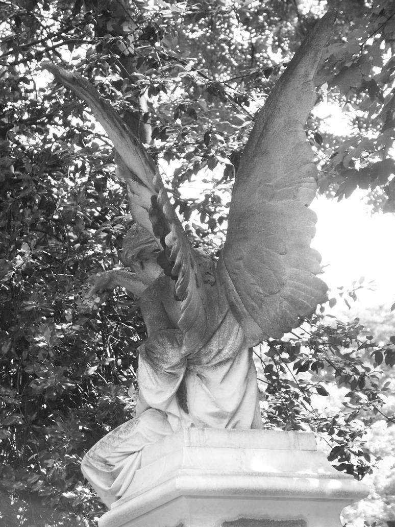 Angel in graveyard by Heurchon