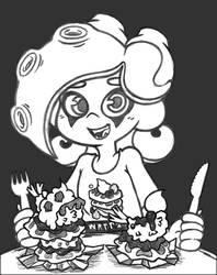 sketch - octo middy's shwaffle feast
