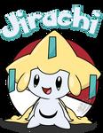 Jirachi shirt design remake by MidnyteSketch