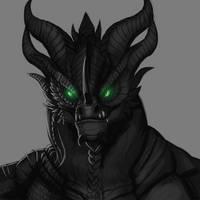 Sketchy stuff - Neltharion portrait by GroxikavonDarkside
