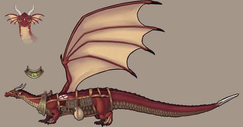 Commission - Dragon Concept art 2/4