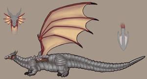 Commission - Dragon Concept art 3/4