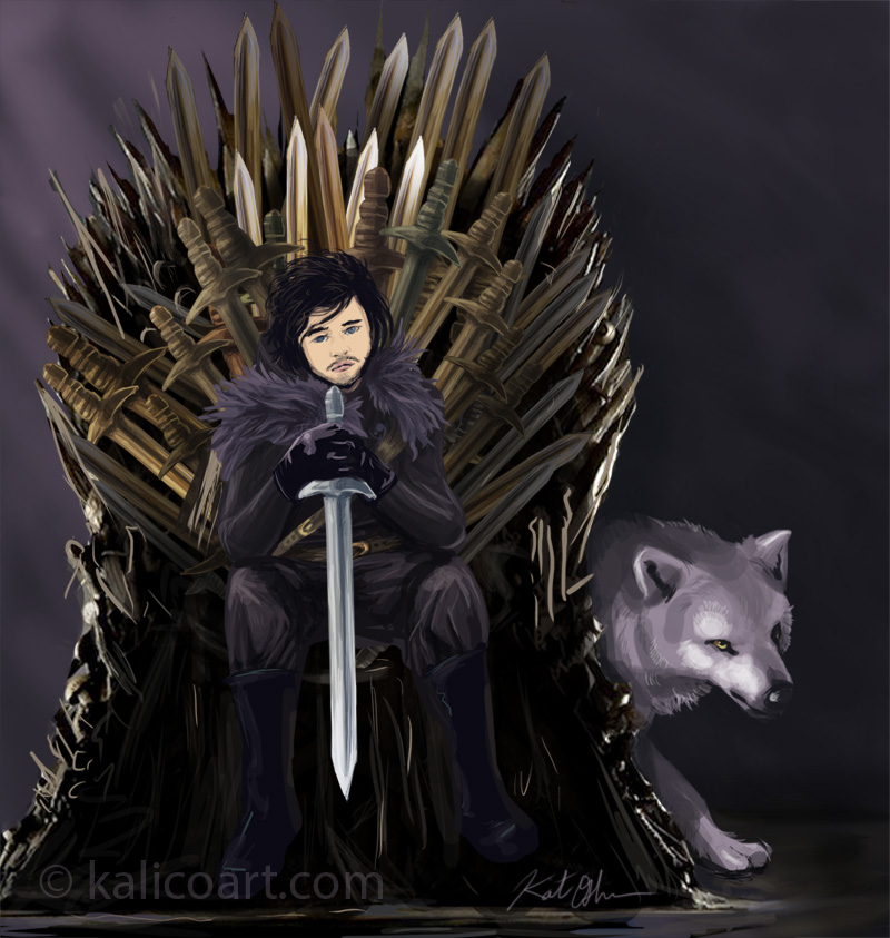 The iron throne by kalicothekat on deviantart for Iron throne painting
