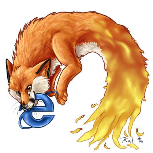 Firefox vs Internet Explorer by kalicothekat