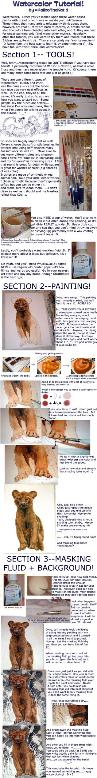 Watercolor Tutorial by kalicothekat