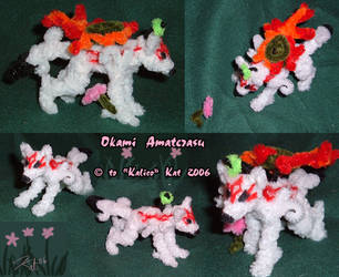 Okami Amaterasu - Pipecleaners by kalicothekat