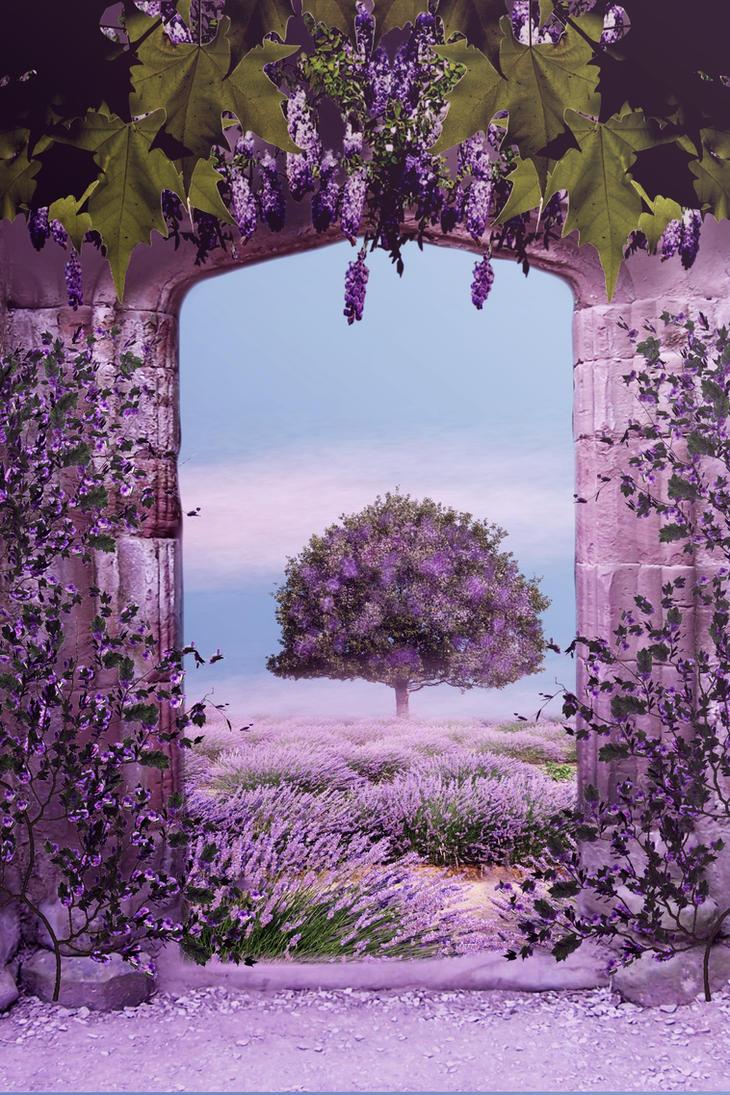 Premade Backround Purple Delight #4 by SPRSPRsDigitalArt