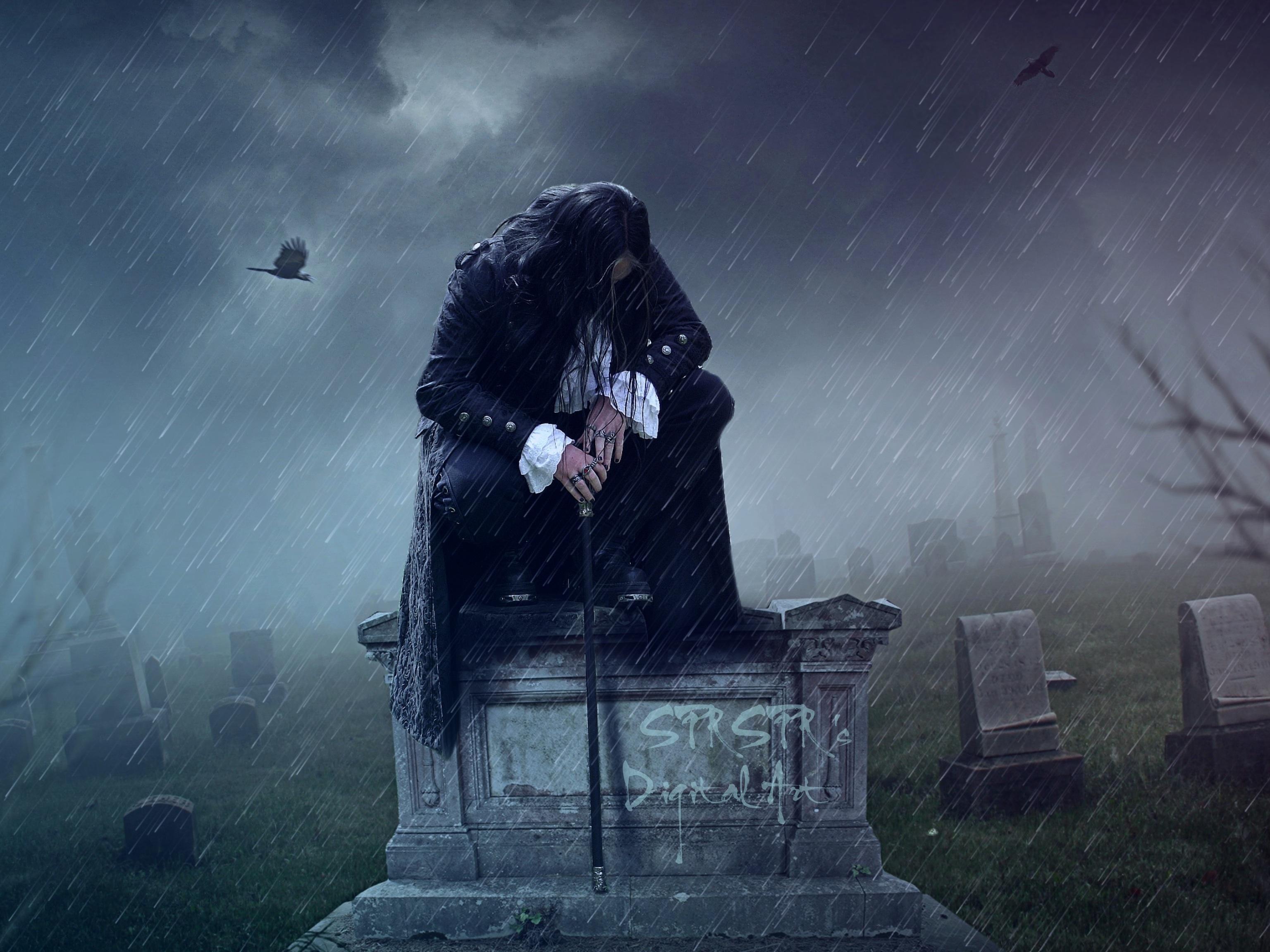 Alone in the rain by SPRSPRsDigitalArt on DeviantArt