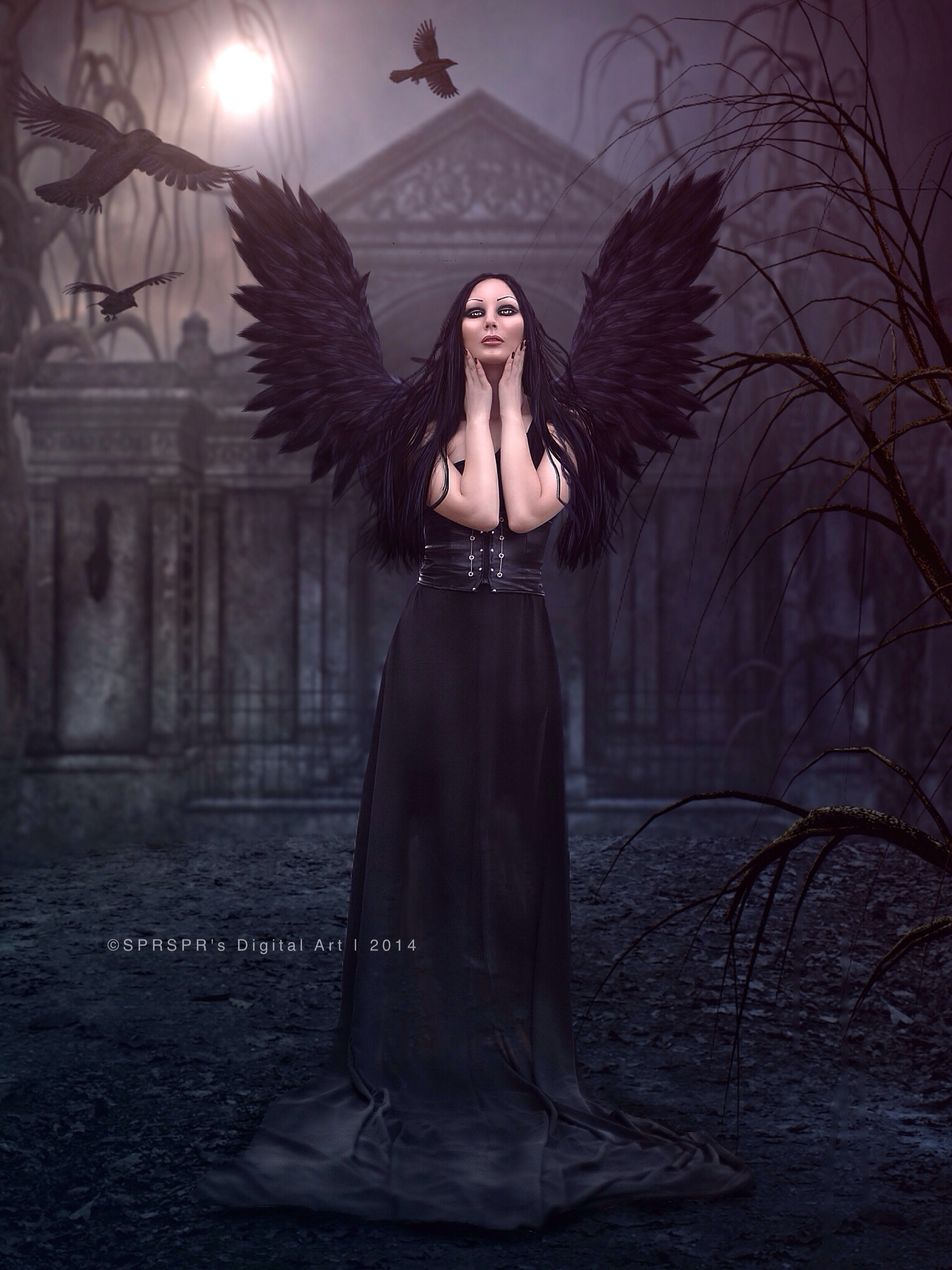 Raven Queen by SPRSPRsDigitalArt