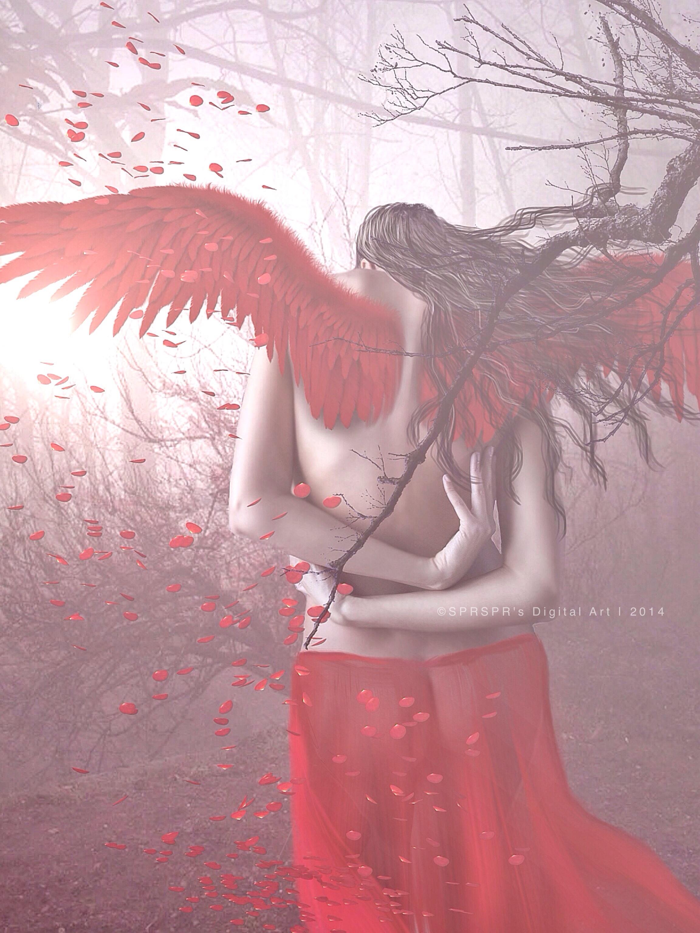 Broken Angel by SPRSPRsDigitalArt