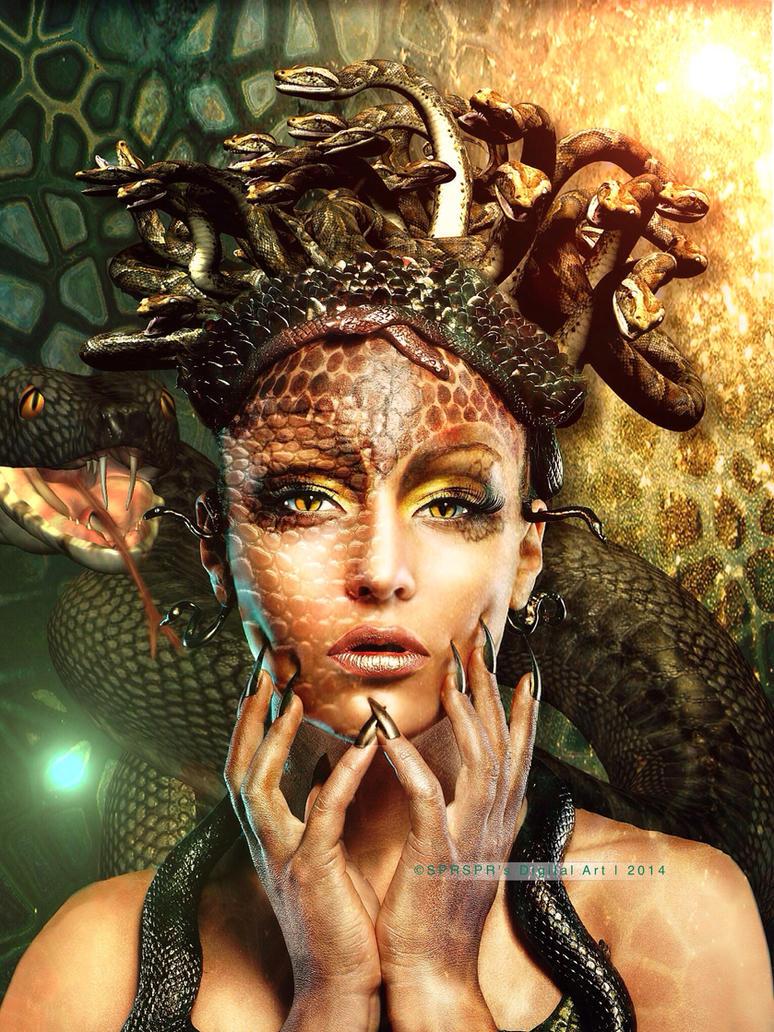 The Snake Queen by SPRSPRsDigitalArt